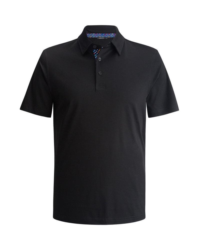 BUGATCHI UOMO Black Solid Polo