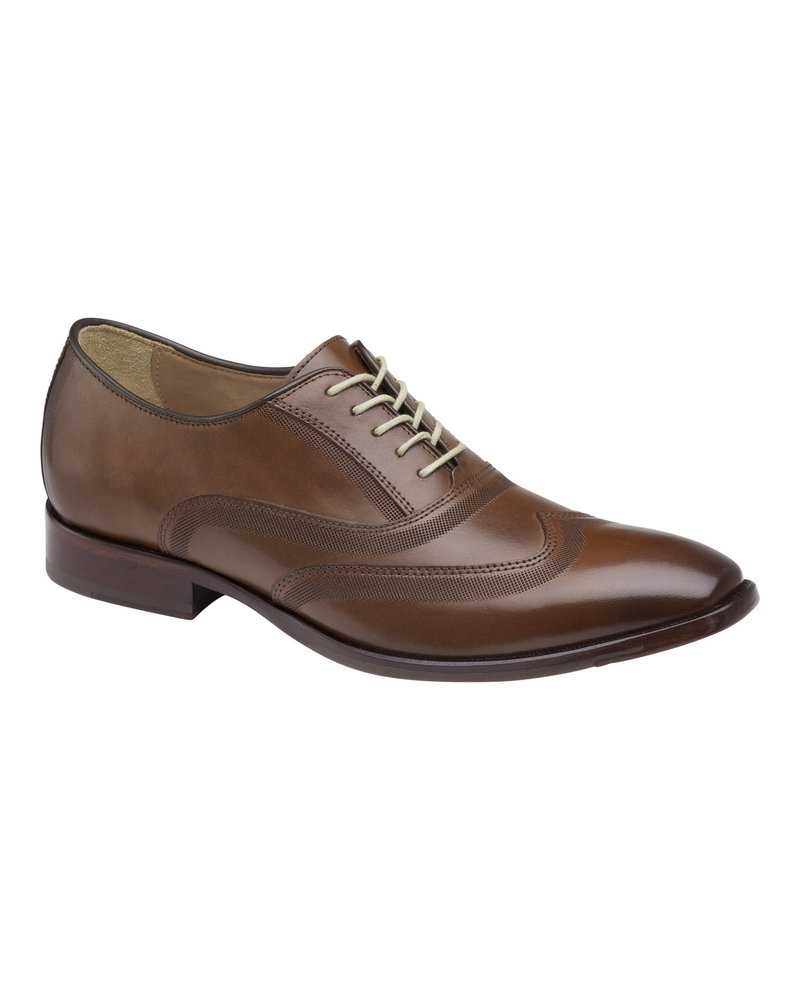 JOHNSTON & MURPHY Mcclain Wingtip Leather Dress Shoe