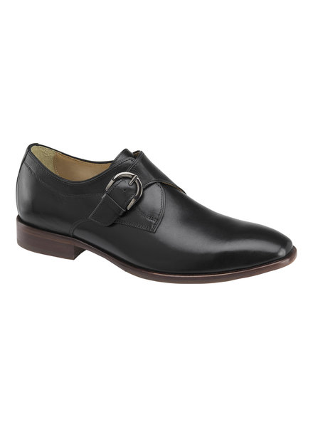 JOHNSTON & MURPHY Mcclain Monk Strap Leather Shoe