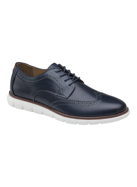 JOHNSTON & MURPHY Navy Holden Wingtip Blucher
