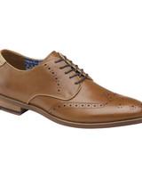JOHNSTON & MURPHY Milliken Wingtip Leather Shoe
