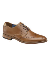 JOHNSTON & MURPHY Milliken Wingtip Leather Shoe