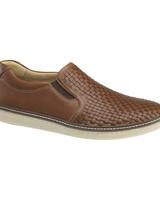 JOHNSTON & MURPHY Mcguffey Woven Slip-on Leather Shoe