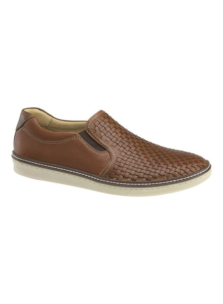 JOHNSTON & MURPHY Mcguffey Woven Slip-on Leather Shoe