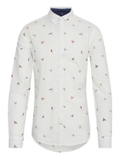 BLEND Slim Fit Parrot Print Shirt