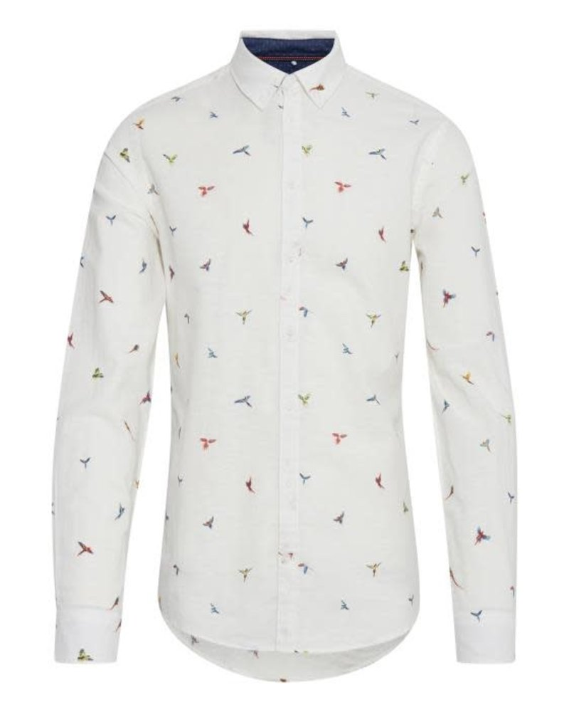 BLEND Slim Fit Parrot Print Shirt