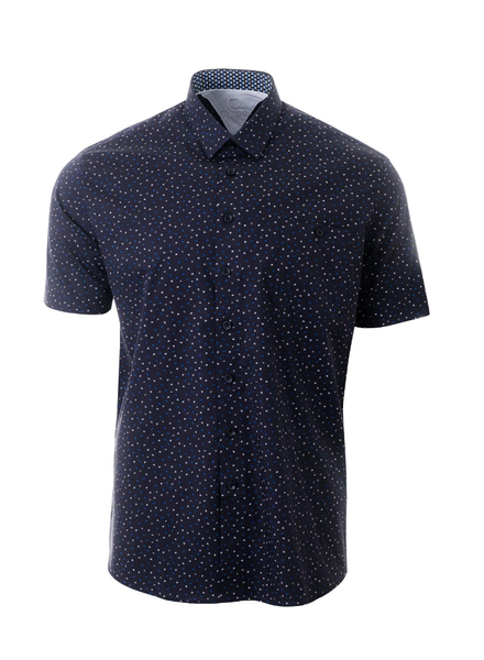 MARCO Classic Fit Navy with Color Triangles Shirt