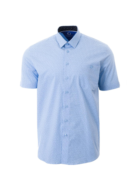 MARCO Classic Fit Light Blue Neat Shirt