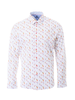 MARCO Modern Fit White Cocktail Short Sleeve Shirt