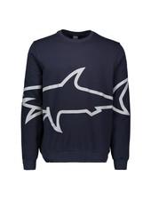 PAUL & SHARK Navy Reflective Shark Sweatshirt