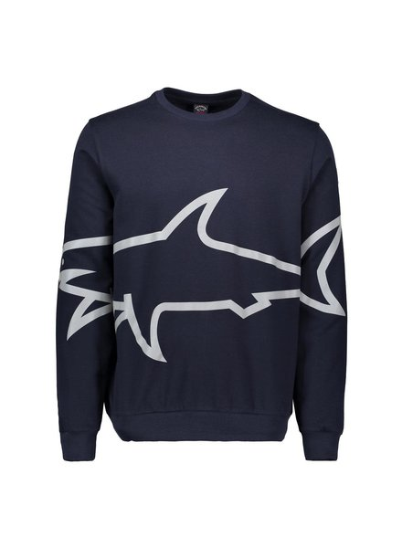 PAUL & SHARK Navy Reflective Shark Sweatshirt