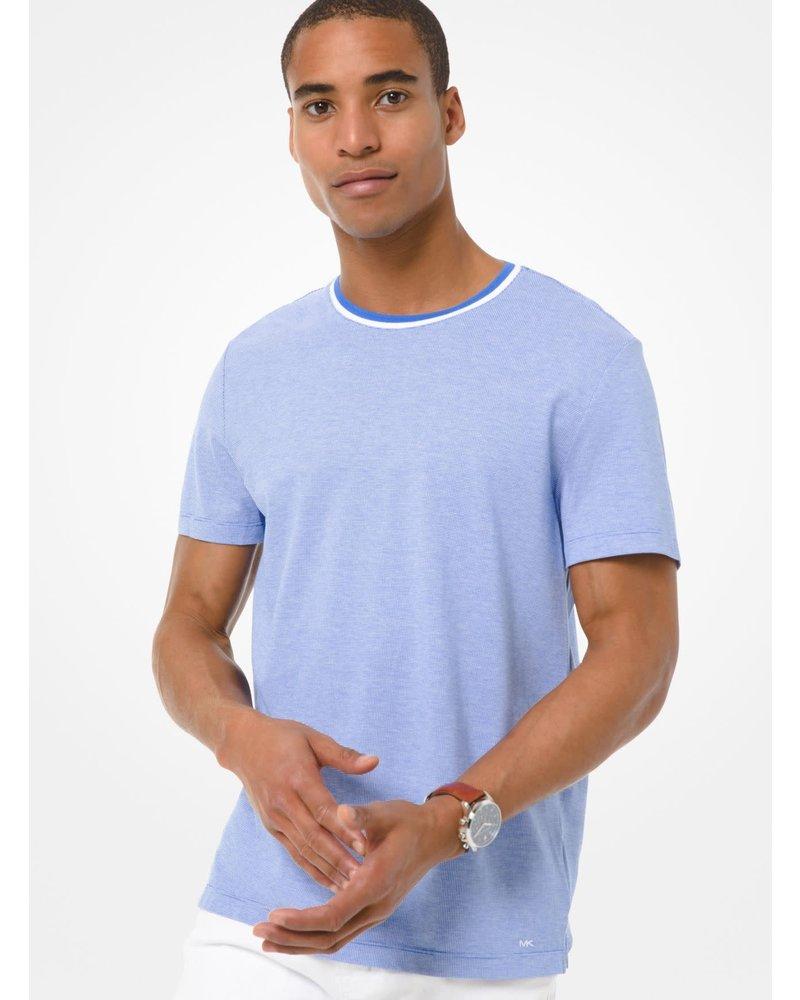 MICHAEL KORS Birdseye Tipped Crew T Shirt