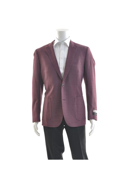 PAUL BETENLY Modern Fit Burgundy Unstructured Sport Coat