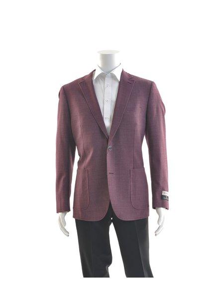 PAUL BETENLY Modern Fit Burgundy Unstructured Sport Coat