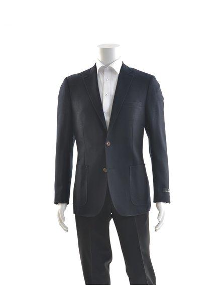 PAUL BETENLY Modern Fit Wool Knit Unlined Navy Sport Coat