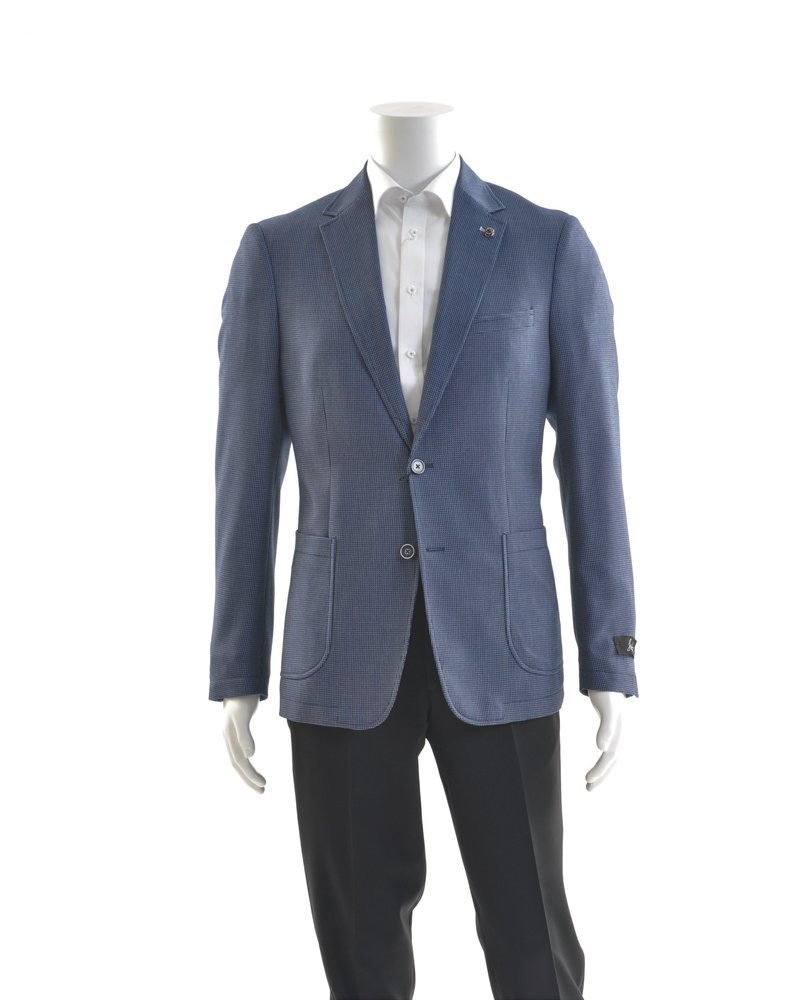 SUITOR Slim Fit Blue Stretch Sport Coat