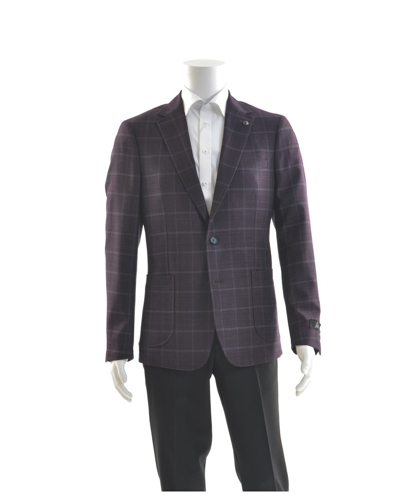 SUITOR Slim Fit Plum Stretch Sport Coat
