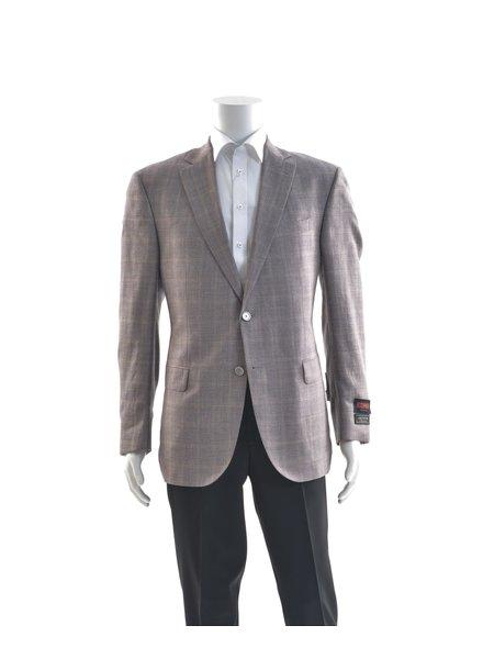JACK VICTOR Classic Fit Mauve Wool Silk Linen Sport Coat