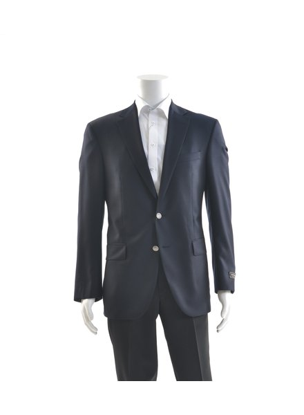 JACK VICTOR Classic Fit Serge Navy Blazer