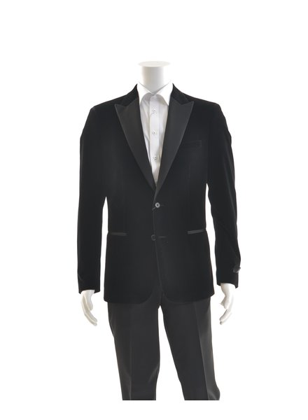 SUITOR Slim Fit Black Velvet Tuxedo Jacket