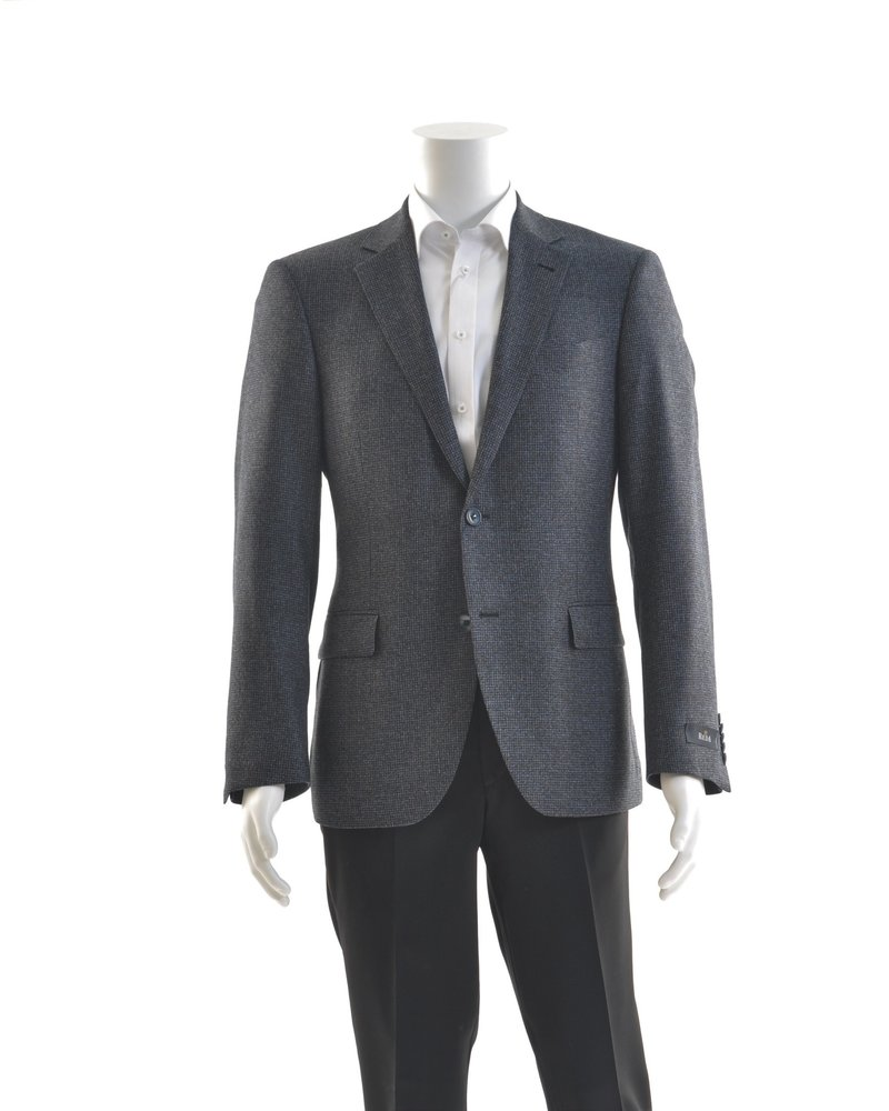 S COHEN Modern Fit Blue Grey Houndstooth Sport Coat