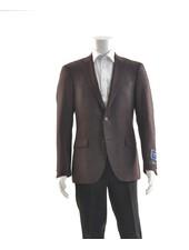 S COHEN Modern Fit Burgundy Black Neat Sport Coat