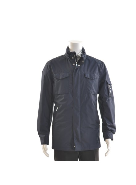 BRUUN & STENGADE Navy 3/4 Casual Coat