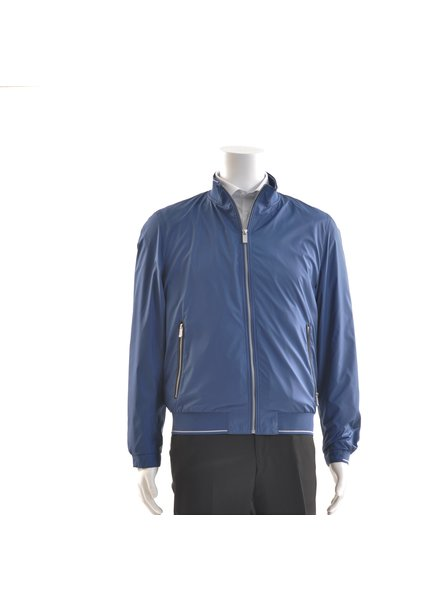 BUGATTI Blue Nylon Casual Coat