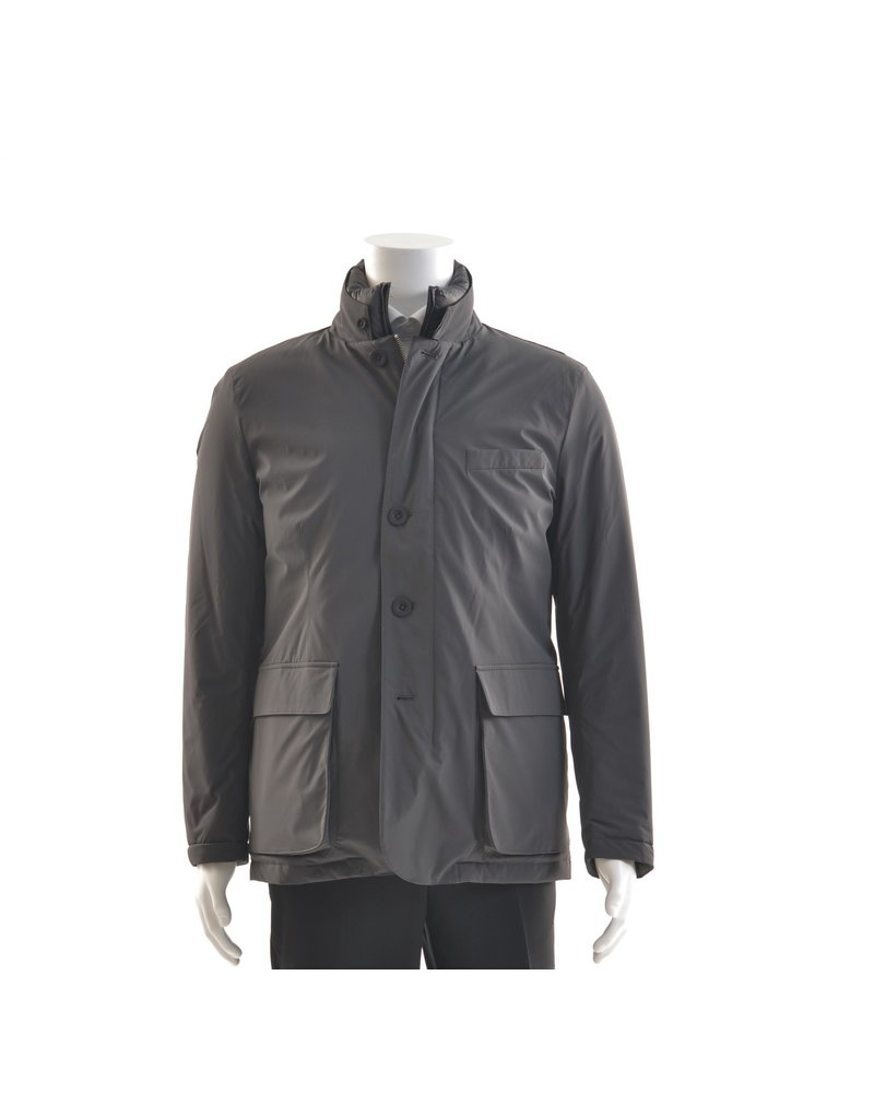 PAUL BETENLY Grey Nylon Highland Casual Coat