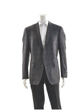 PAUL BETENLY Classic Fit Blue & Brown Check Sport Coat