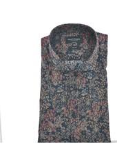 BRUUN & STENGADE Modern Fit Navy Floral  Shirt