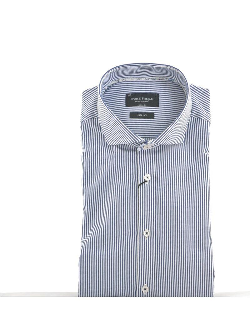 BRUUN & STENGADE Modern Fit Bankers Stripe Shirt