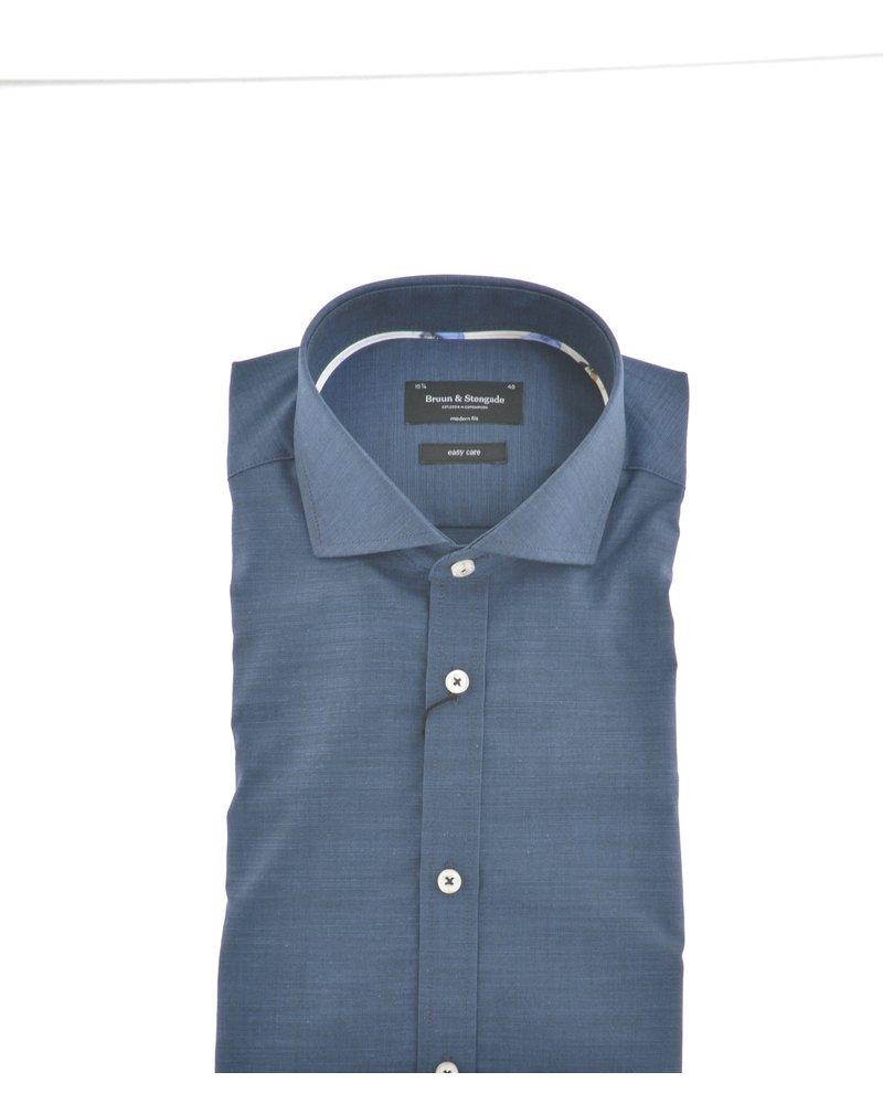 BRUUN & STENGADE Modern Fit Denim Blue Shirt