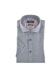 BRUUN & STENGADE Modern Fit Blue Cotton/Linen Shirt