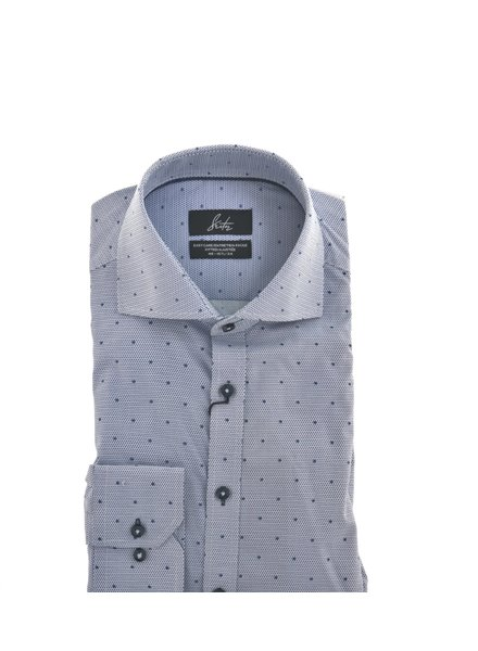 SUITOR Slim Fit Mid Blue with Dots Shirts