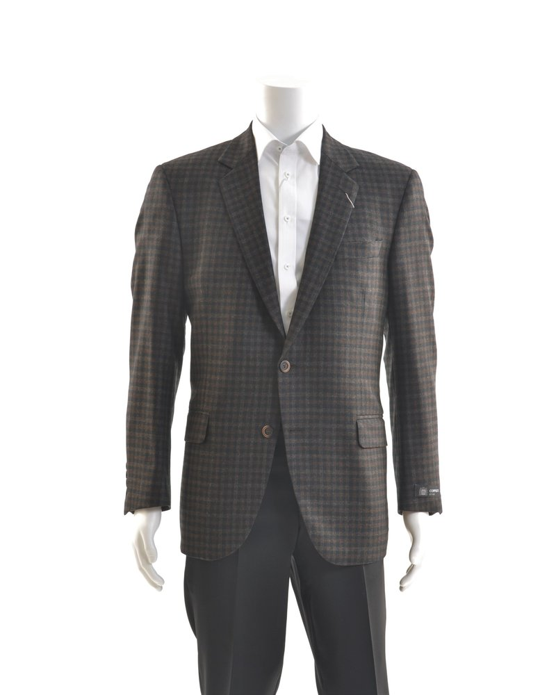COPPLEY Classic Fit Brown Black Check Sport Coat