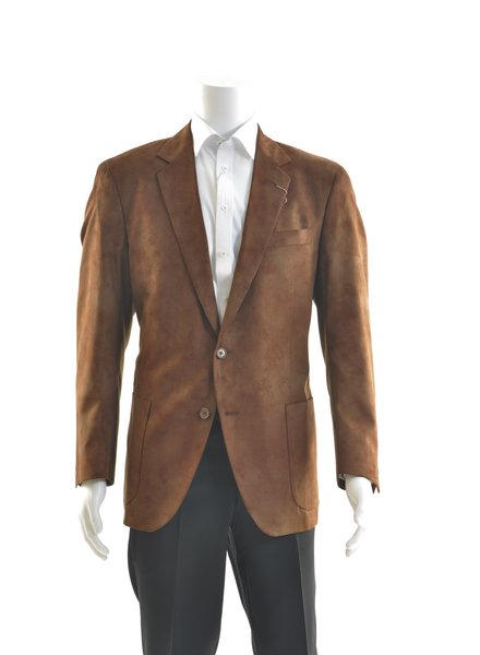 COPPLEY Classic Fit Brown Microfiber Sport Coat
