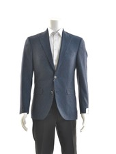 JACK VICTOR Modern Fit Blue & Brown Bouclay Sport Coat