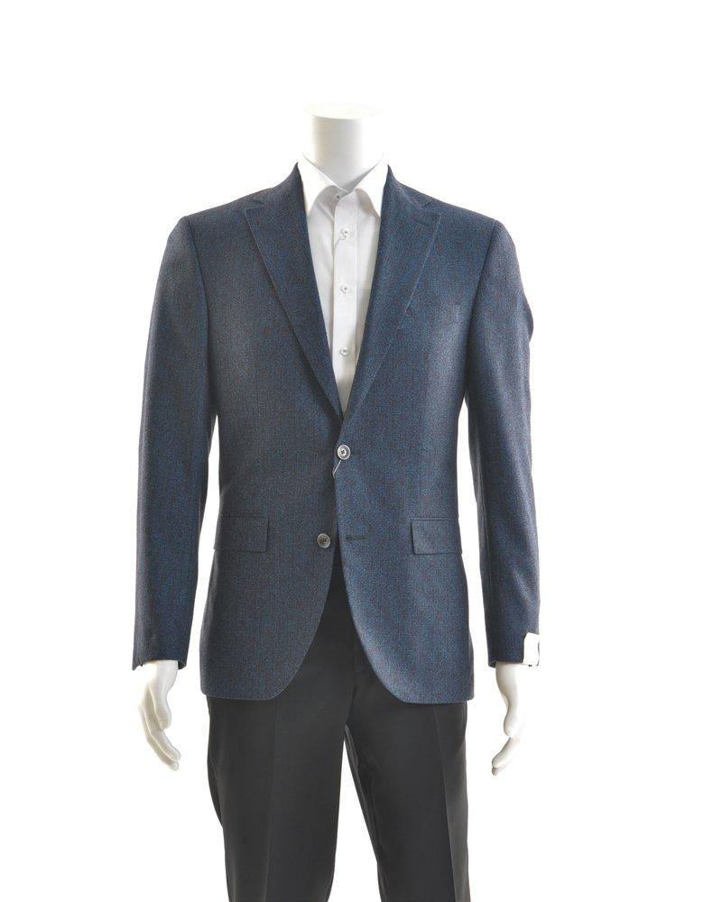 JACK VICTOR Modern Fit Blue & Brown Bouclay Sport Coat