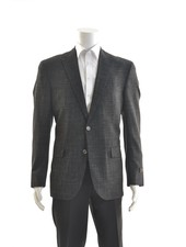 JACK VICTOR Black Wool Blend 1/4 Lined Sport Coat