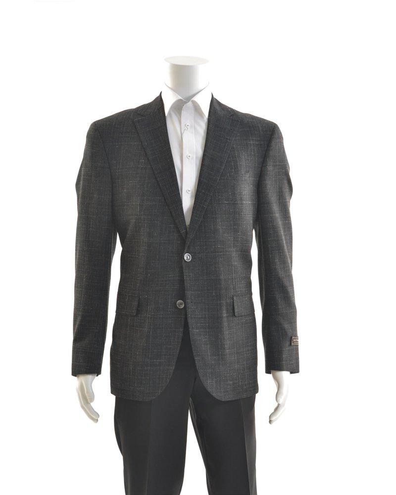 JACK VICTOR Black Wool Blend 1/4 Lined Sport Coat
