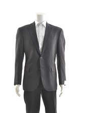 JACK VICTOR Navy with Red Blend Sport Coat