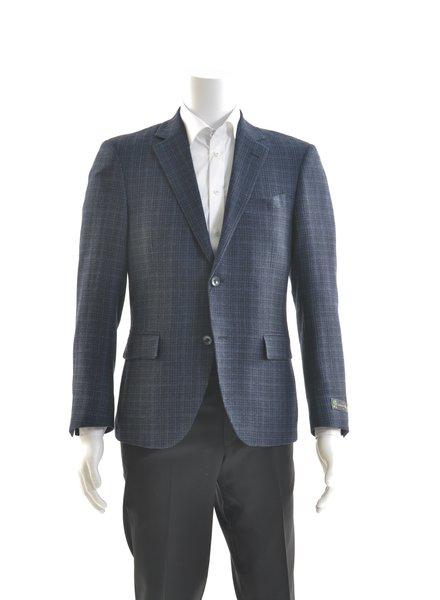 S COHEN Modern Fit Lanifico Blue Check Sport Coat