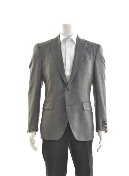 COPPLEY Modern Fit Grey Birdseye 1/4 Lined Sport Coat