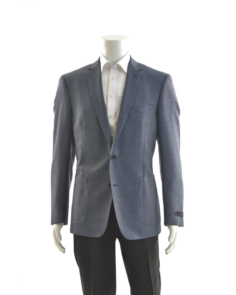 PAUL BETENLY Wool Hopsack Blue Unlined Sport Coat