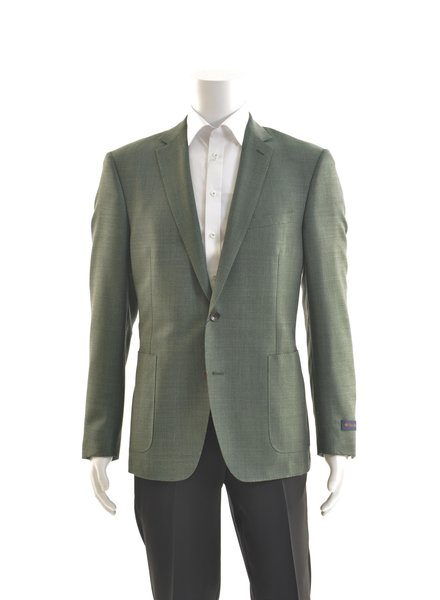 PAUL BETENLY Wool Hopsack Kelly Green Sport Coat
