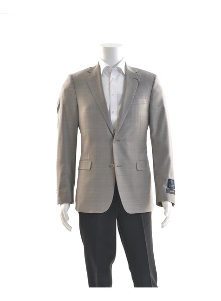 S COHEN Modern Fit Tan Blue Check Sport Coat