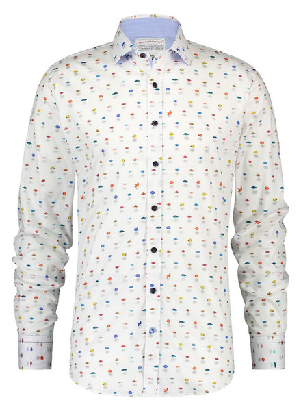 A FISH NAMED FRED Modern Fit Shadow Fishes Shirt