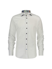 A FISH NAMED FRED Modern Fit Basic White Leaves Shirt
