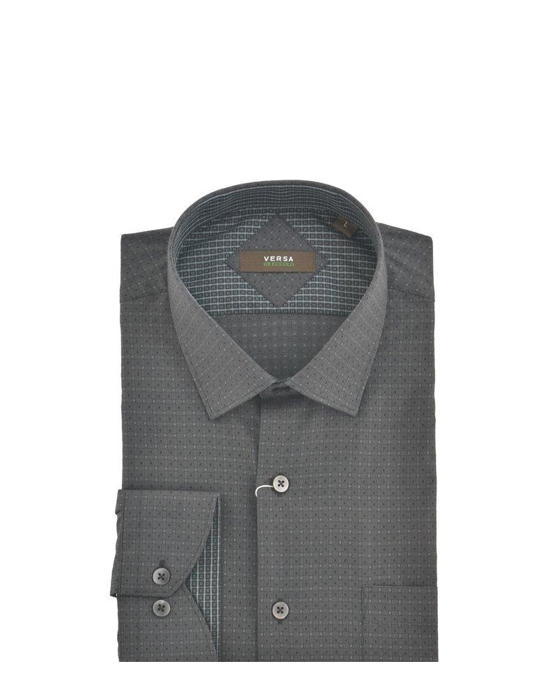 VERSA Modern Fit Brown Mini Square Shirt